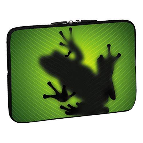 Pedea Design Schutzhülle Notebook Tasche (15,6 Zoll, Green Frog)