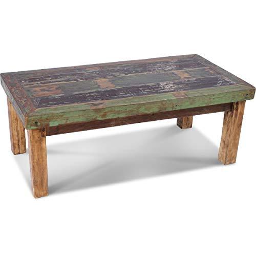 KOH DECO Table Basse Pita en Bois de Bateau recyclé