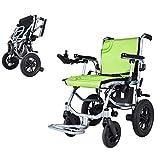 Sillas De Ruedas De Aluminio Livianas Eléctricas,Silla De Ruedas Autopropulsable Plegable,Andador para Discapacitados,Control De Dirección Inteligente