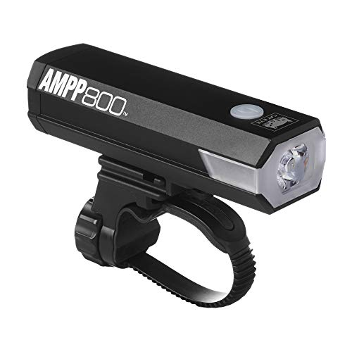 CAT EYE, AMPP800 Rechargeable Bike Headlight, High Power LED, 800 Lumens, with Micro USB Cable