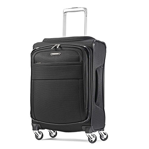 Samsonite Eco-Glide Softside Luggage with Spinner Wheels, Midnight Black, Carry-On 20-Inch