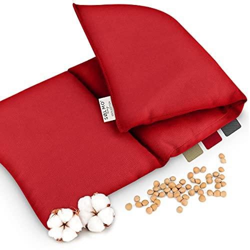 Sølmo I Cuscino Con Noccioli Di Ciliegia Grande Per Microonde, Cuscino Termico E Cuscino Freddo, Borsa Dell'Acqua Calda Naturale Per La Schiena, Rosso