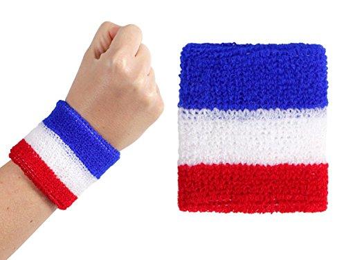 Alsino 2 STK. Schweißband Armband Frankreich 00/0763 Fußball Fanartikel Frankreichflagge Fan Accessoire