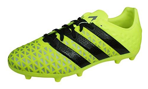 adidas Ace 16.1 FG Niño, Bota de fútbol, Solar Yellow-Black-Silver Metallic, Talla 34 EU (34 EU)