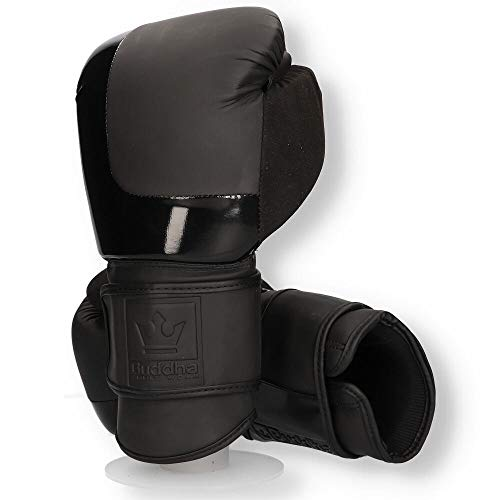 Guantes de Boxeo Muay Thai Kick Boxing Buddha Black X3