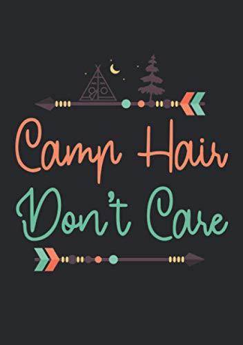Notizbuch A5 kariert mit Softcover Design: Camp Hair don t Care - Camping Haare Campingbus Camper Van: 120 karierte DIN A5 Seiten