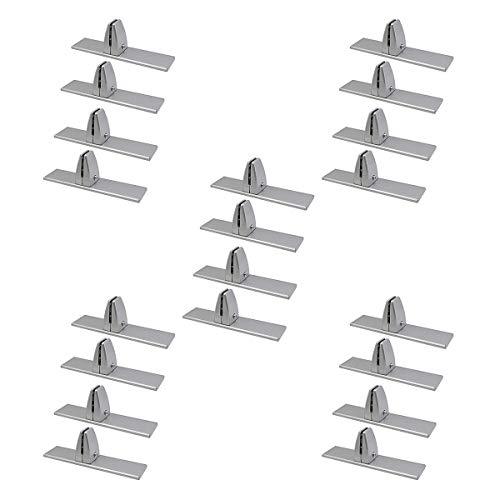 GAYBJ SNEEE Guard-Stand-Acryl-Bildschirmhalterungen, Trennwandhalter-Cliphalter, Aluminiumlegierungsglas-Trennwand-Screen-Klemmen, T unterste Form,20PCS