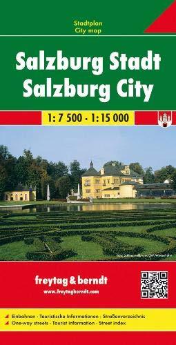 Salzburg Stadt, Stadtplan 1:7.500 - 1:15.000: Stadskaart 1:7 500 / 1:15 000 (freytag & berndt Stadtpläne)