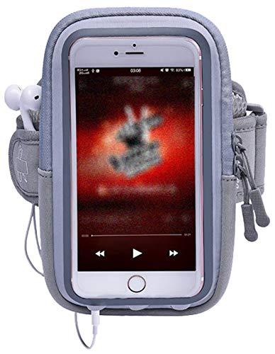 5ALL Handy Armtasche Sport Armband Outdoor Running Handytasche für iPhone 7/6S/6 Plus Samsung Galaxy S7/S6 Edge LG HTC Huawei Handy mit Kopfhörer Halter Doppelarmtasche Armbinde (Damen + Herren)