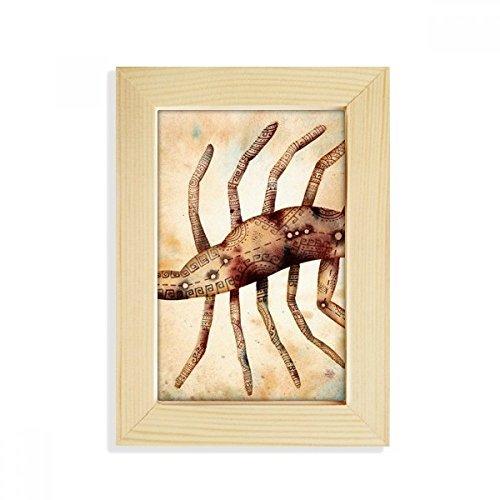 DIYthinker November Oktober Schorpioen sterrenbeeld Zodiac Desktop Houten fotolijstje Picture Art Schilderen 5X7 Inch