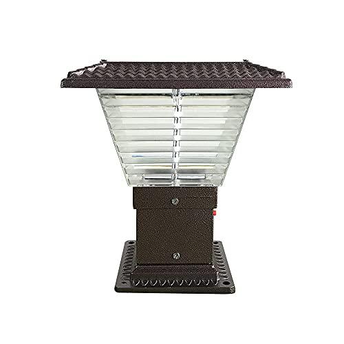 BBZZ Simple aluminio fundido jardín poste luz pilar lámpara para patio al aire libre paisaje hogar exterior impermeable poste tapa luces para villa balcón exterior pilar linterna