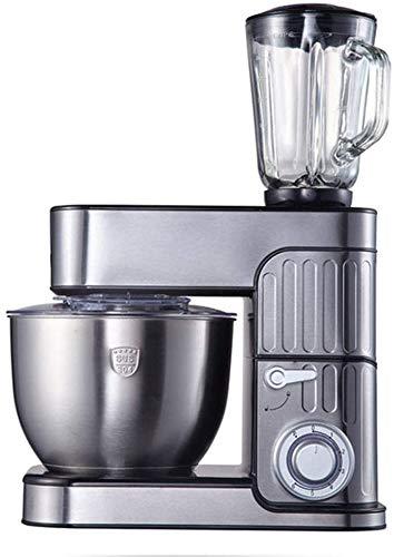 yunyu Standmixer zum Backen von Tilt-Head-Küchenmixern mit Edelstahlschüssel, Teighaken-Schneebesen, Multifunktions-3-in-1-Standmixern, Fleischmixer und Entsafter 1000 W, 5 l Entsaften