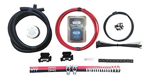 N&C Kit de relé de carga dividida de 6 m con 12 V 140 A VSR con cable de 10 mm 70 Amp