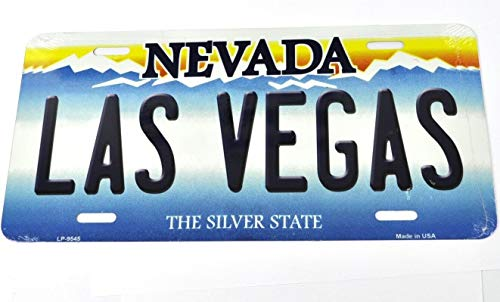 MNUT Nevada Las Vegas Car License Plate License Plate Decor Tin Sign License Plate Sign 6x12 inches