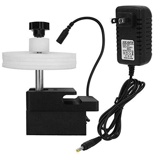 KLOP256 Limpiador de discos de vinilo Estante de acero de accesorios de audio tating durable hogar disco titular soporte para máquina de limpieza ajustable potencia portátil