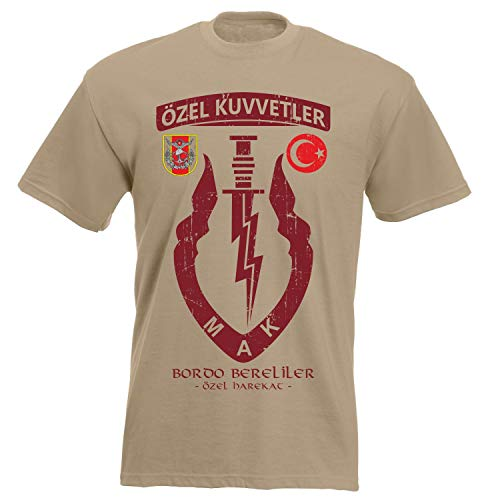aprom Türkei Bordo Bereliler T-Shirt XX 046, Khaki, S