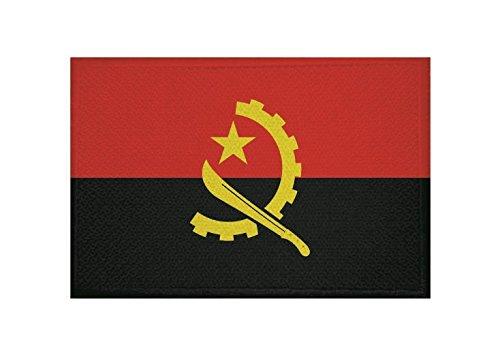 U24 Aufnäher Angola Fahne Flagge Aufbügler Patch 9 x 6 cm