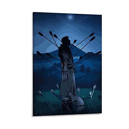 JIANGJUNO Vinland Saga Art - Lienzo decorativo para pared (30 x 45 cm)