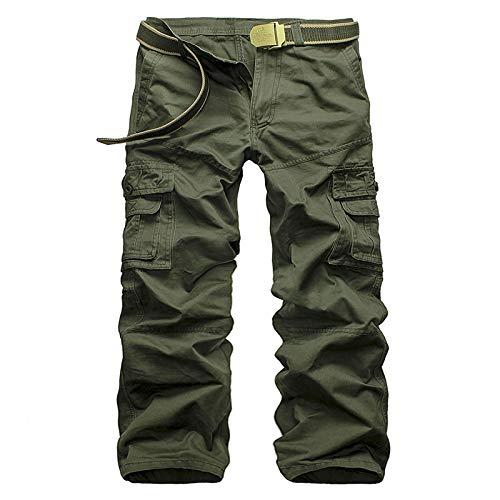 Katenyl Pantalones de chándal de Trabajo de Combate de Carga para Hombre Pantalones de Jogging de Ajuste clásico con múltiples Bolsillos Streetwear Pantalones Casuales relajados de Talla Grande 33