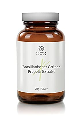 Brazilian Green Propolis Dry Extract Powder 20 G - High Strength, High Quality