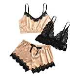 HCOO Mieder Dessous Nacht Kleid Unterwäsche Frauen Sexy Set Damen Kleid Klassisch Nachthemd Sexy Nachtwäsche Damen Pyjamas Sex Kleid Frau (Beige,XL)