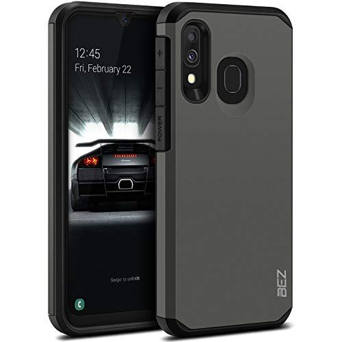 BEZ Coque Samsung A40, Housse Etui pour Samsung Galaxy A40 Antichoc Survivor Shockproof Double Protection Double Ultra Resistante, Gris