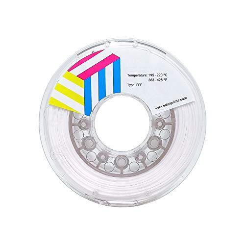 Eolas Prints | Filament 2.85 PLA | 3D Drucker | Geeignet für Lebensmittel und Spielzeugherstellung | 2,85 mm | 1Kg | Weiß