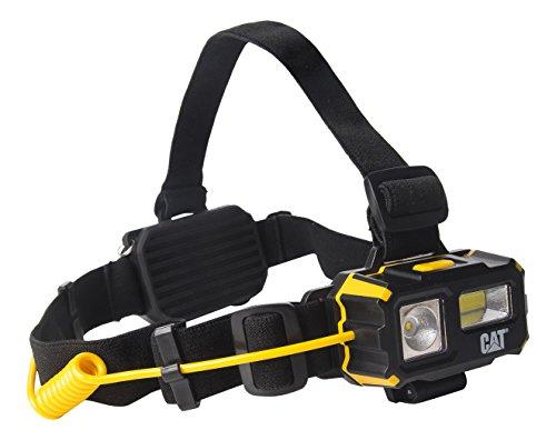 CAT Work Light CT4120 - Lámpara de cabeza con batería, multifuncional (para campamento, correr, senderismo, lectura y trabajo), 3 baterías AAA incluidas