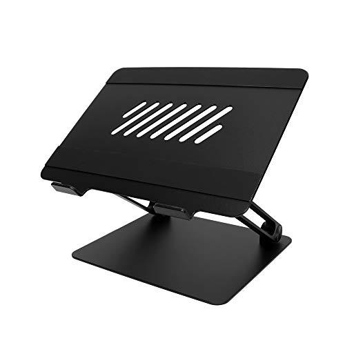 オウルテック 折り畳みアルミスタンド ノートパソコン・タブレット 17インチまで対応 ブラック OWL-PCST01-BK