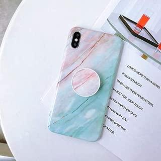 XPRESS WORLD Glossy Marble Folding Bracket Anti-Drop TPU Case for iPhone XR(Z7)
