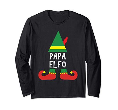 Ropa de Navidad para Familia - Papa Elfo Manga Larga