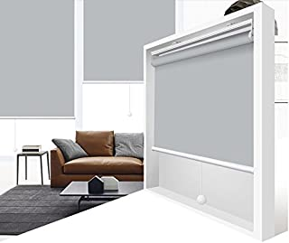 ZY Blinds Cordless Roller Shades 100% Blackout Custom Made UV Protection Enery Saving Block 100% Light Window Shades Blinds for Home, Hotel, Club, Restaurant 70
