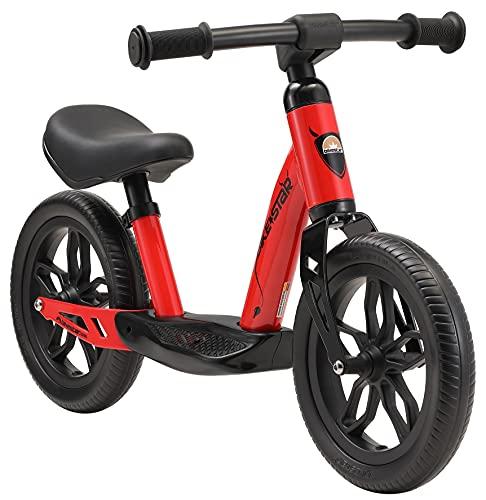 BIKESTAR Bicicleta sin Pedales Muy Ligera para niños y niñas   Bici 10' Pulgadas a Partir de 2-3 años   Eco Clásica Rojo