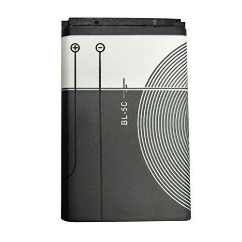 Batteria di ricambio ad alta capacità Batteria al litio Batteria da 1020 mAh 3,7 V Batteria per elettroutensile durevole Nokia BL-5C - Bianco e nero