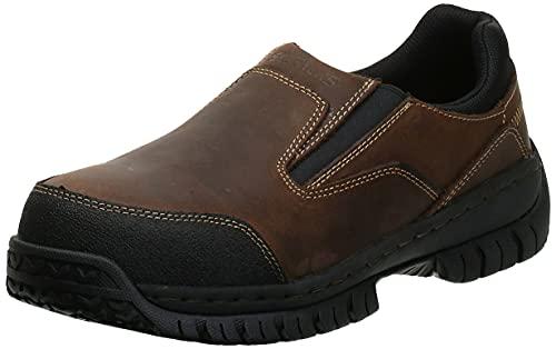 Skechers for Work Men's Hartan Slip-On Shoe, Dark Brown, 12 M US