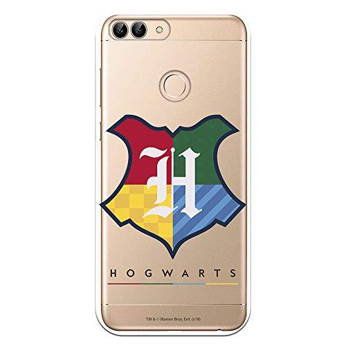 Funda para Huawei P Smart Oficial de Harry Potter Hogwarts Escudo para Proteger tu móvil. Carcasa para Huawei de Silicona Flexible con Licencia Oficial de Harry Potter.