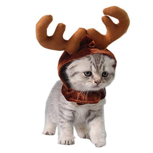 Leoie huisdier hond hoofdbanden Antlers Cap huisdier kostuum benodigdheden kerst herten hoeden, Eén maat, Antler cap