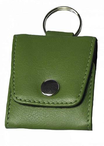 Reiseapotheke Schlüsselanhänger Notfall-Etui Leer 5er Grün echtes Leder