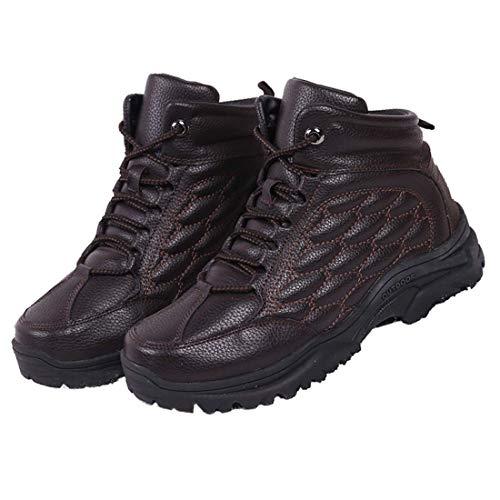 RTYUI Chaussures de Travail à Bout en Acier pour Hommes, Baskets de sécurité Respirantes et légères, Chaussures de randonnée en Polaire Haute en Plein air, pour Le travailBrown-39