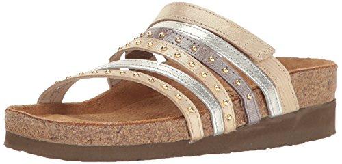 Naot Footwear Women's Prescott, Gold Threads Leather/Silver Luster Leather/Silver Threads Leathe, 37 EU/6-6.5 M US