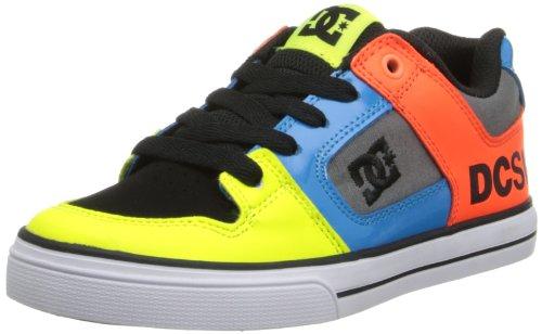 DC Unisex Pure B Sneaker, Neon Yellow/Ocean, 6 EU