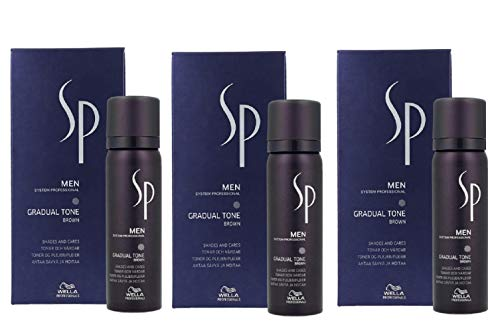 3er Gradual Tone Brown System Professional Men SP Wella Professionals Braun 60 ml + 30 ml Shampoo