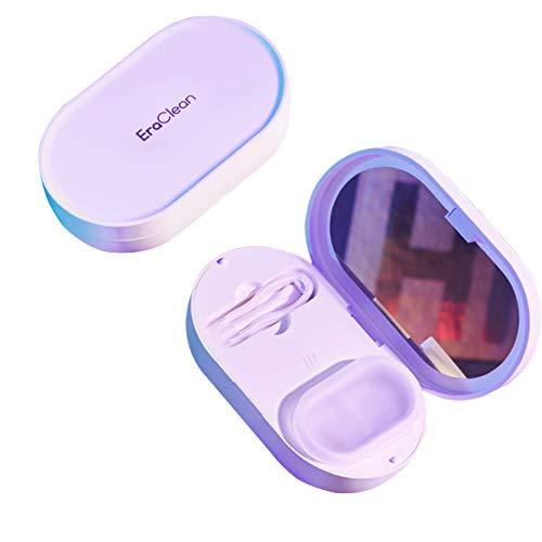 EraClean ultraschalle Reinigungsmaschine Reiniger für allen Kontaktlinsen mit 45000Hz Hochfrequenz Vibration, magnetisches Ladekabel, klein und tragbar (EraClean)