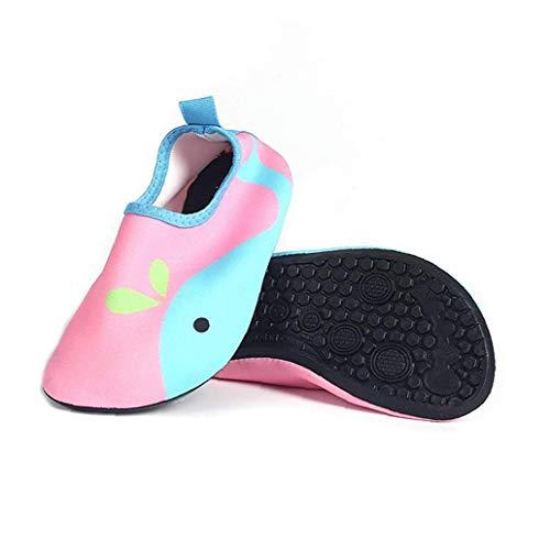hjgnbiohg Kinder Wasserschuhe Unisex Kleinkind Quick Dry Anti Slip Aqua Socken Für Outdoor-aktivitäten Rosa S