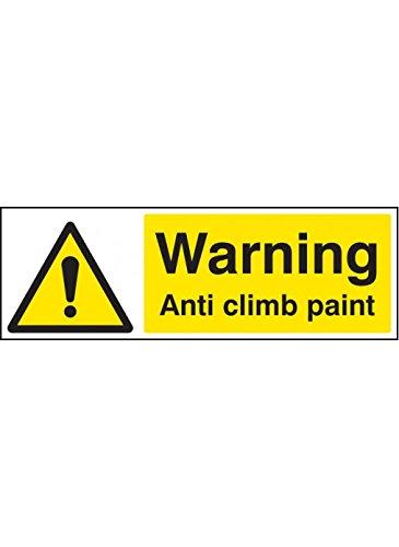 Caledonia Schilder 11714G Warnung Anti-Kletter Farbe Schild, starrer Kunststoff, G: 300mm x 100mm
