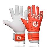 GUARDY - Guantes de portero para niños – Guantes de portero duraderos para niños – Guantes de portero con agarre extra fuerte (rojo con protección para los dedos, 6)