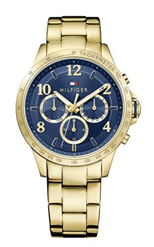 Reloj para mujer Tommy Hilfiger 1781643, mecanismo de cuarzo, diseño con varias esferas, correa chapada en oro.