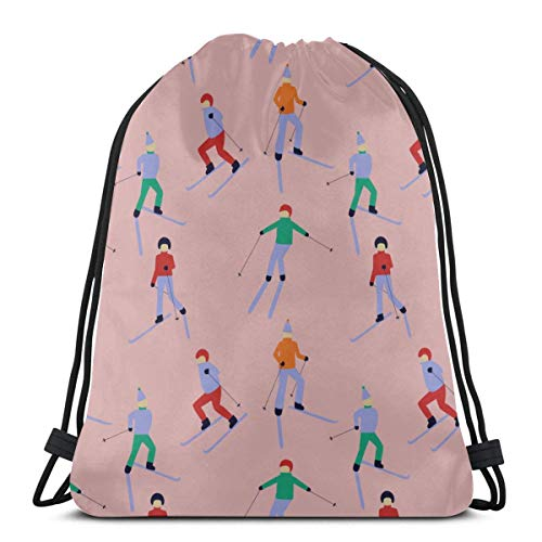 AEMAPE Skiing Extreme Sports Entertainment Drawstring Bag Drawstring Makeup Bags Travel Bags For Gym Outdoor Travel