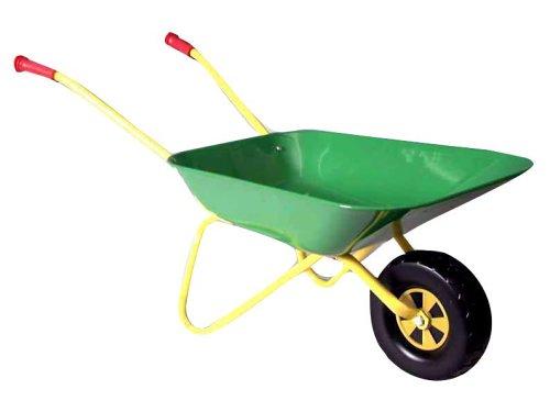 rolly toys 271801 - Schubkarre aus Metall grün/ gelb, 80cm
