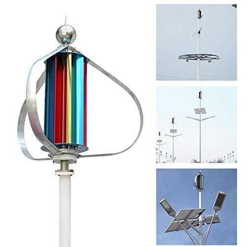 SENDERPICK 100W 12V Windkraftanlage Windgenerator Vertikale Windanlage, Garten Wind Turbine Windkraft Windkraftanlage Wind Turbine Generator mit 9 Klingen